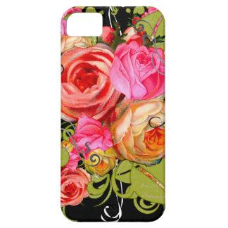 Explosión colorida artística de la flor funda para iPhone 5 barely there