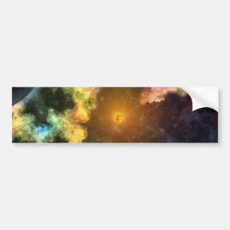Explosión colorida de la galaxia pegatina para coche