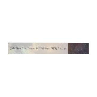 Explosión colorida de la galaxia etiquetas postales