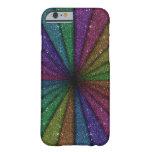Explosión colorida de moda del brillo funda de iPhone 6 barely there