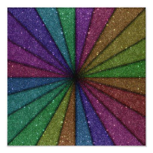 Explosión colorida de moda del brillo impresiones fotográficas