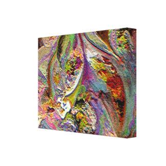 Explosión colorida lona estirada galerías