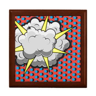 Explosión cómica del estilo del arte pop caja de joyas