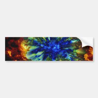 Explosión cósmica pegatina para coche
