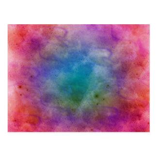 Explosión cósmica tarjeta postal
