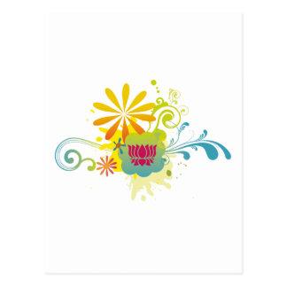 Explosión de color de la flor de Lotus Tarjetas Postales
