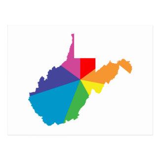 explosión de color de Virginia Occidental Tarjeta Postal