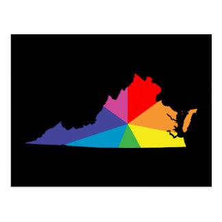 explosión de color de Virginia Postales