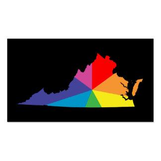 explosión de color de Virginia Tarjetas De Visita