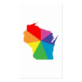 explosión de color de Wisconsin Tarjetas De Visita