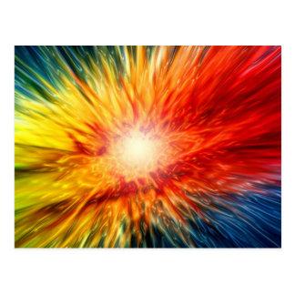 Explosión de color del arco iris tarjeta postal