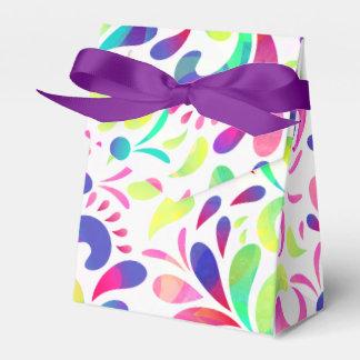 Explosión de color festiva del carnaval de la cajas para regalos de fiestas