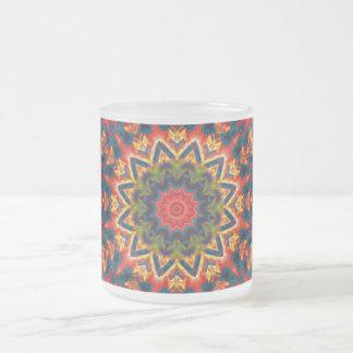 Explosión de color intrépida taza cristal mate