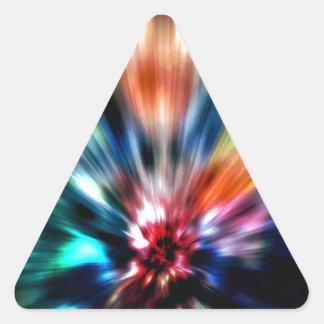 Explosión de colores calcomania trianguloada