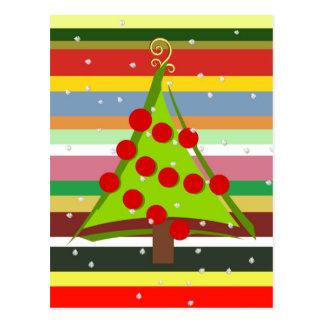 Explosión de colores en el tiempo del navidad postal