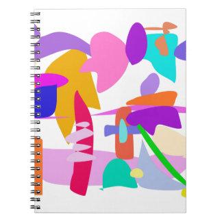Explosión de encargo del color de fondo libro de apuntes