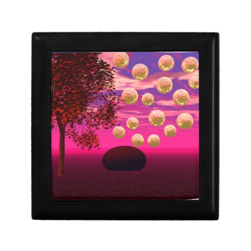 Explosión de la alegría - inspiración abstracta de joyero cuadrado pequeño