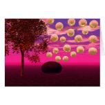 Explosión de la alegría - inspiración abstracta de tarjetas