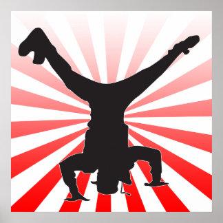 explosión de la danza de rotura póster