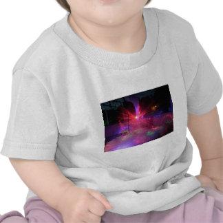 explosión de la danza del laser camiseta