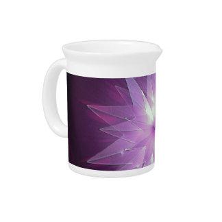 Explosión de la esperanza púrpura jarra para bebida