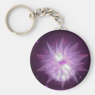 Explosión de la esperanza púrpura llavero personalizado