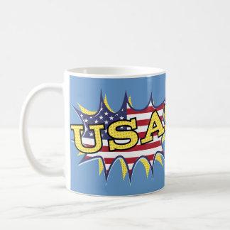 Explosión de la estrella de la bandera del taza