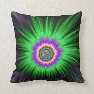 Explosión   de la estrella del verde de las almohada
