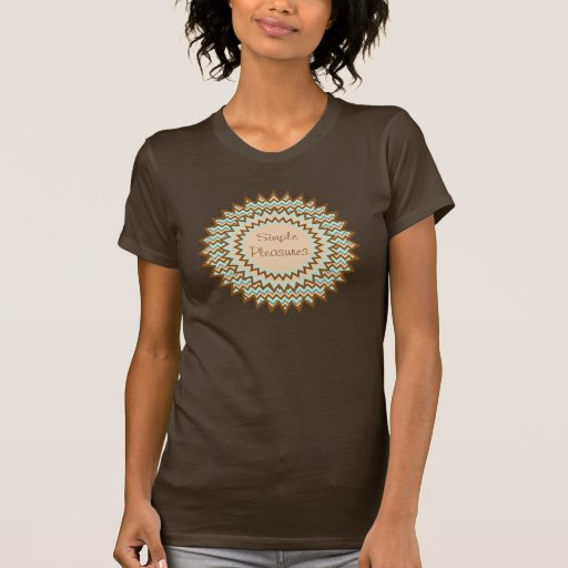 Explosión de la estrella del zigzag de Brown y de  Camiseta