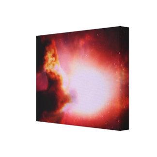 Explosión de la estrella impresiones en lona estiradas