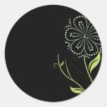 Explosión de la flor pegatinas redondas