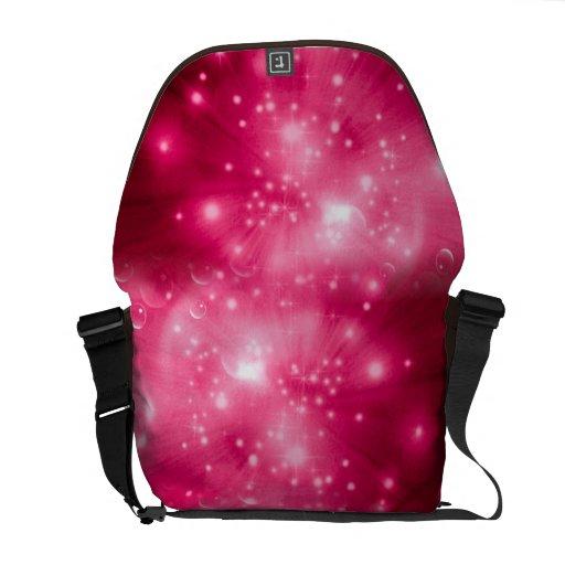 Explosión de la galaxia de la frambuesa bolsas de mensajeria