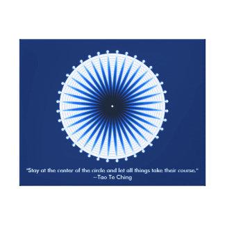Explosión de la impresión envuelta estirada azules impresión en tela
