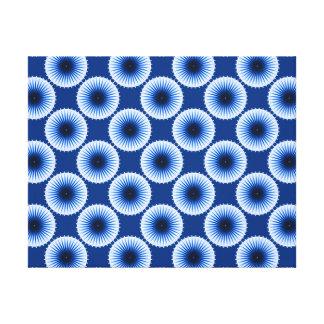 Explosión de la impresión estirada azules de la impresiones en lona estiradas