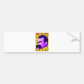 ¡Explosión de Nietzsche! ¡Amarillo y púrpura y Pegatina Para Auto