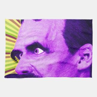 ¡Explosión de Nietzsche! ¡Amarillo y púrpura y Toalla De Mano