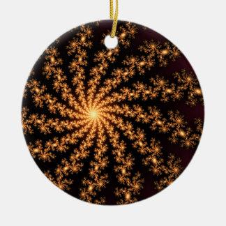 Explosión de oro del fractal que brilla