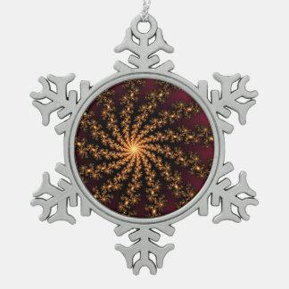 Explosión de oro del fractal que brilla intensamen adornos