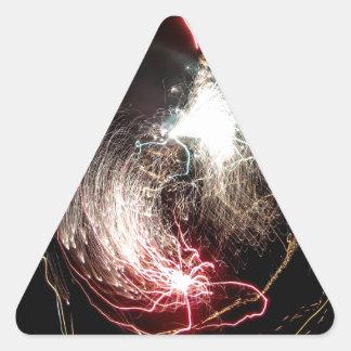 Explosión de Ying Yang Pegatina Triangular
