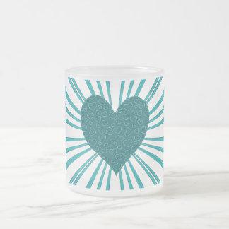 Explosión del amor (azul claro) tazas
