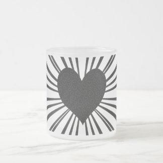 Explosión del amor (negro) taza