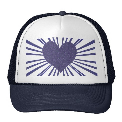 Explosión del amor (púrpura) gorros