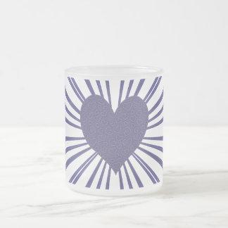 Explosión del amor (púrpura) tazas de café