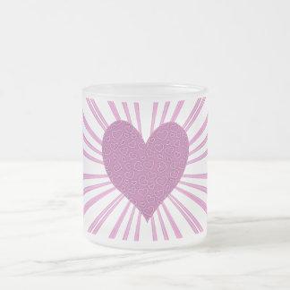 Explosión del amor (rosa) tazas