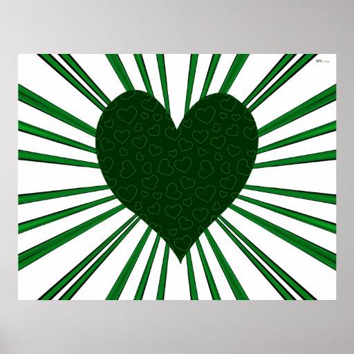 Explosión del amor (verde) póster