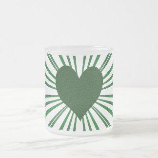 Explosión del amor (verde) tazas de café