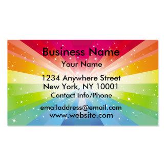 Explosión del arco iris de la tarjeta de visita
