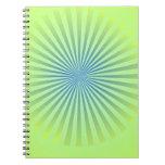 Explosión del azul cuaderno