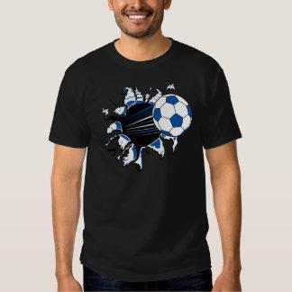 Explosión del balón de fútbol camisas