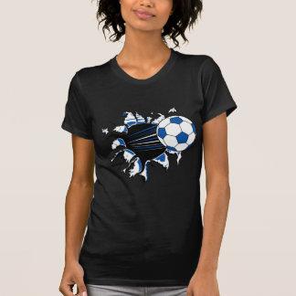 Explosión del balón de fútbol camiseta